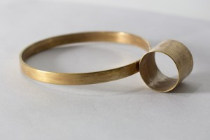 lee lewis handmade brass bangle geometric jewelry