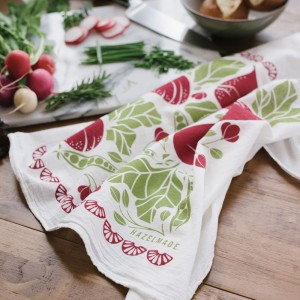 beets and peas tea towel by hazelmade