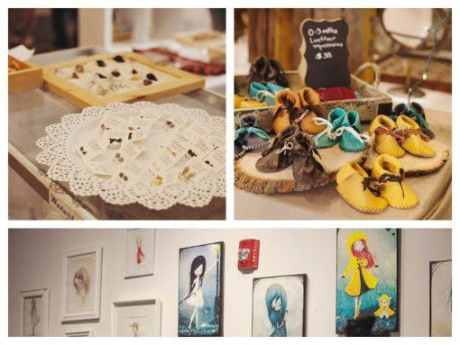 collage of Pop Shop Houston Craft Fair Handmade Goods