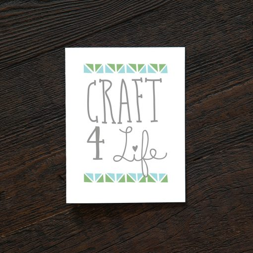 craft 4 life greeting card handcrafted cards by hazelmade