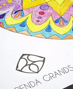 detail of mandala mural coloring poster