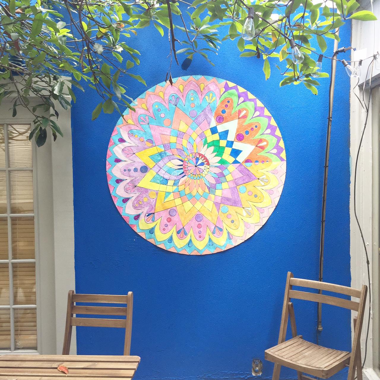 free printable mandala coloring poster