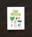 glorious green birthday smoothie birthday card