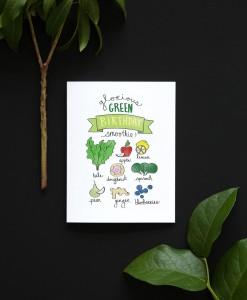 glorious green smoothie handmade birthday card