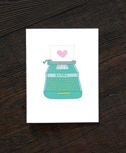 love letter & typewriter card pop shop america greeting cards