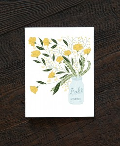 mason jar flower bouquet handmade cards at pop shop america