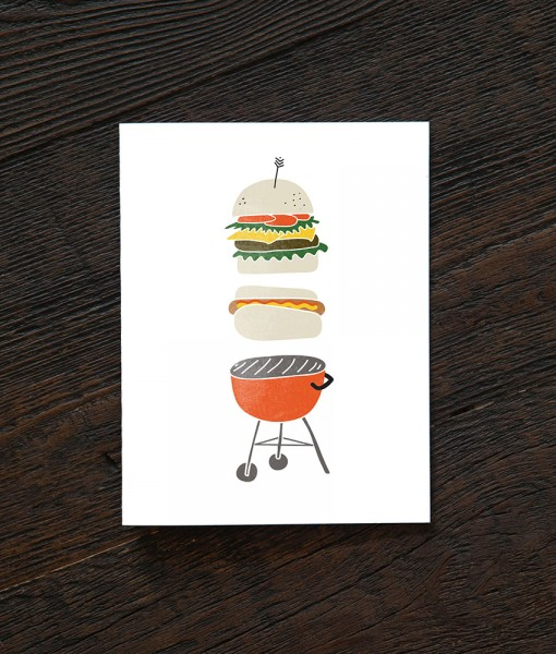 summer grill greeting card pop shop america