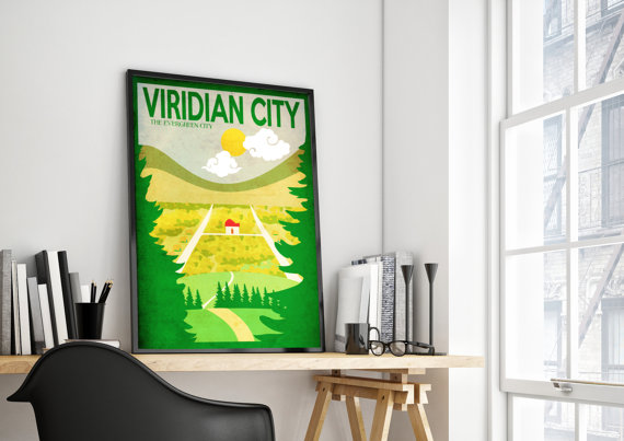 viridian city art poster by harknett prints