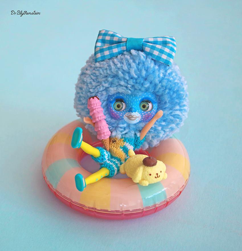 Dr Blythenstein's Mini Blythe Doll Yarnhead Creations
