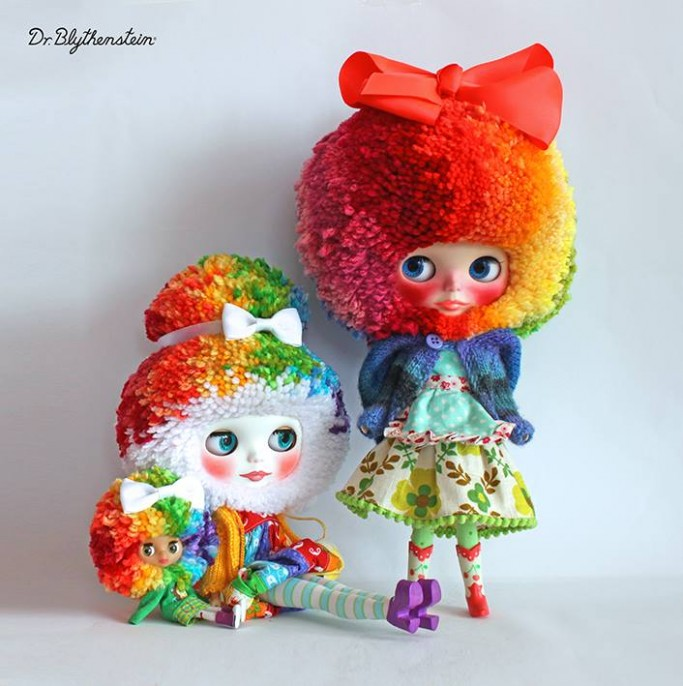 Dr Blythenstein Blythe Doll Twin Rainbow Creations