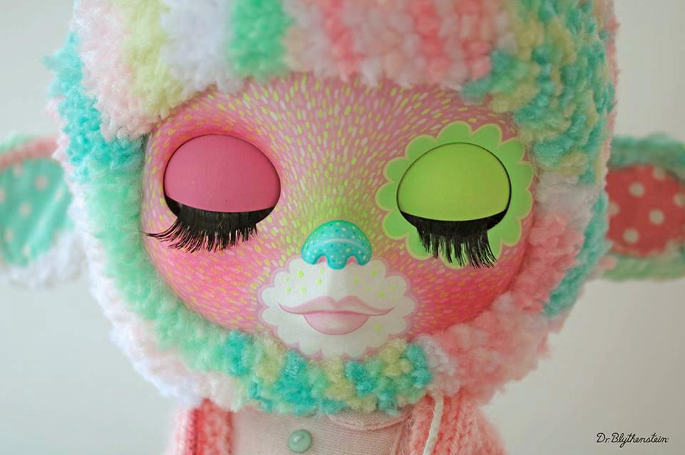 Dr Blythenstein Blythe Multicolor Pastel Yarnhead Doll