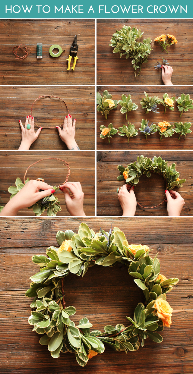 How to make a backyard flower crown boho diy at pop shop america