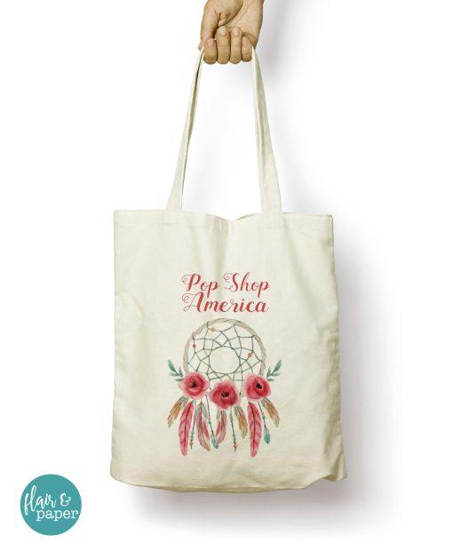 Pop Shop America dreamcatcher tote bag