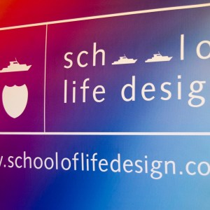 School of Life Design Tie Dye Banner