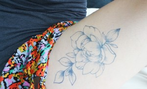 Temporary Tattoos - Peony on the Thigh Tattoo DIY Tutorials by Pop Shop America