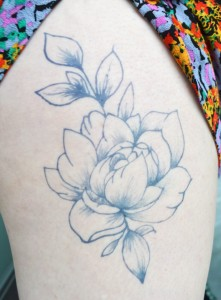 Temporary Tattoos - Peony Temporary Tattoo by Hand DIY Tutorials at Pop Shop America