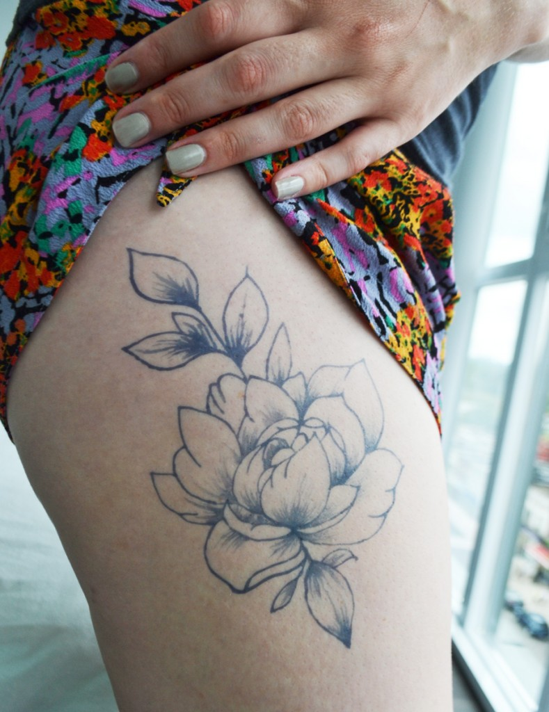 Temporary Tattoos - Handdrawn Peony Tattoo