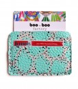abstract mint leather wallet business card holder