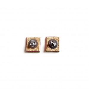 back of watermelon stud earrings leather jewelry