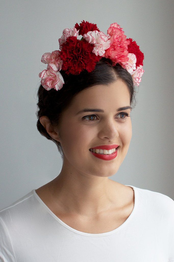 frida kahlo flower crown diy a pair and a spare