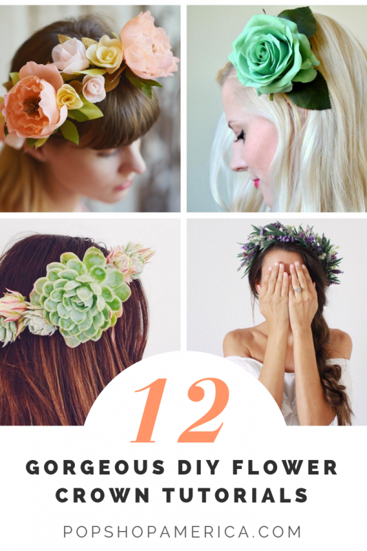 how to make a flower crown 12 tutorials pop shop america