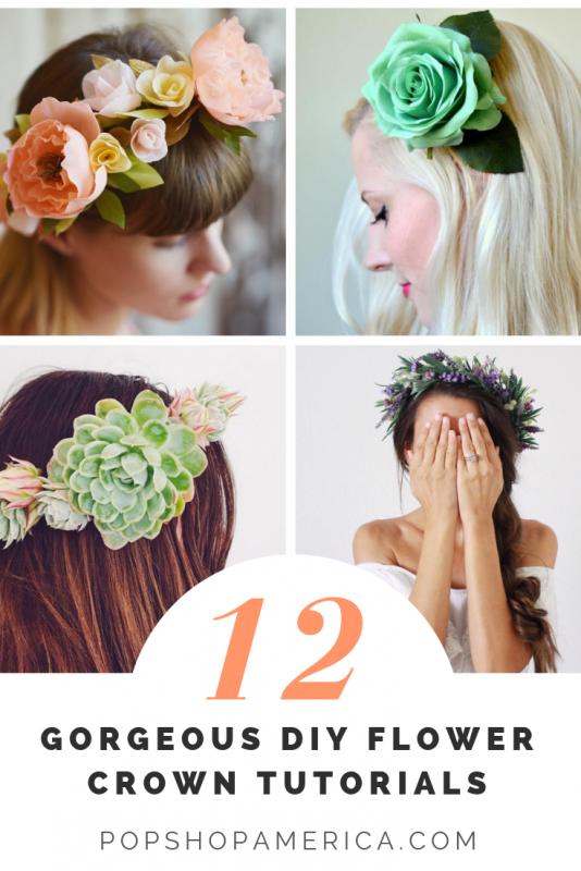 how to make a flower crown 12 tutorials pop shop america