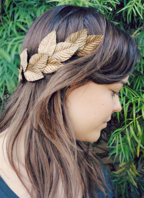 laurel flower crown caesar style leaf crown diy