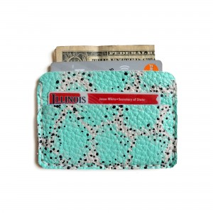 mint leather wallet handcrafted leather goods by boo and boo factory