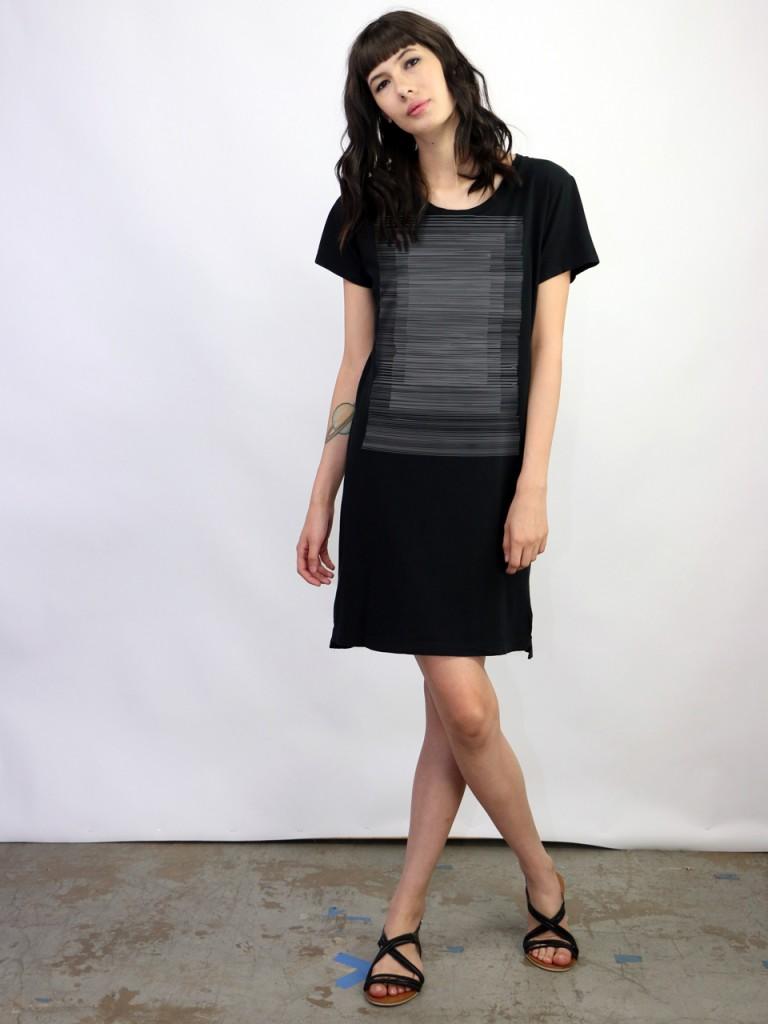 Supermaggie Lines Black Naomi Dress_lg