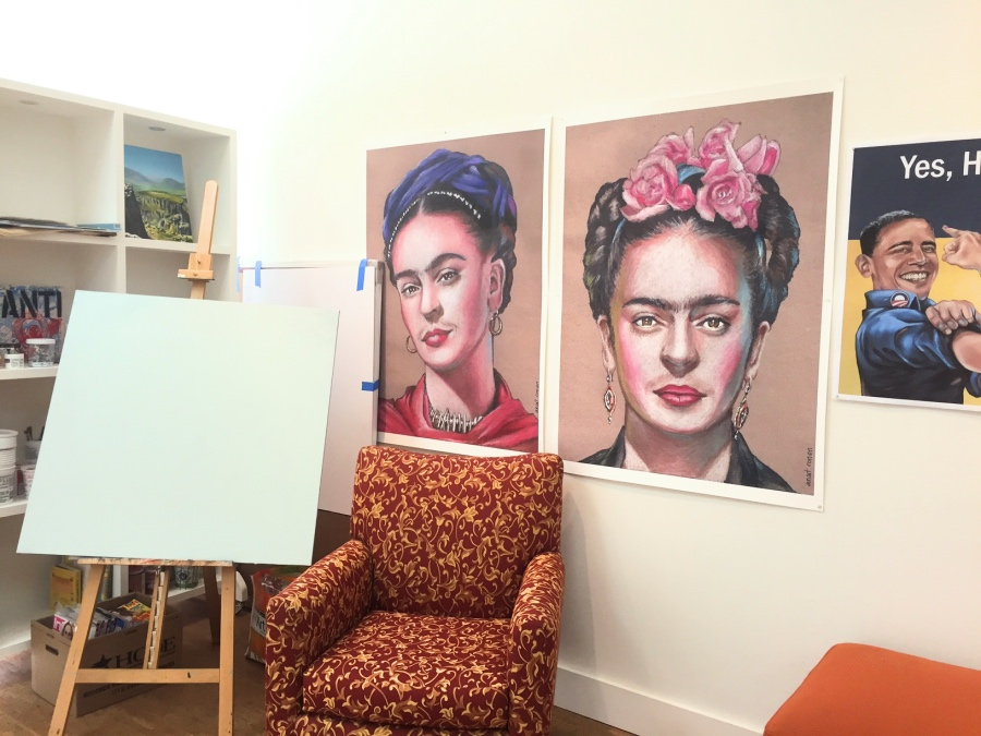 anat ronen's studio houston artist anat ronen inside her studio