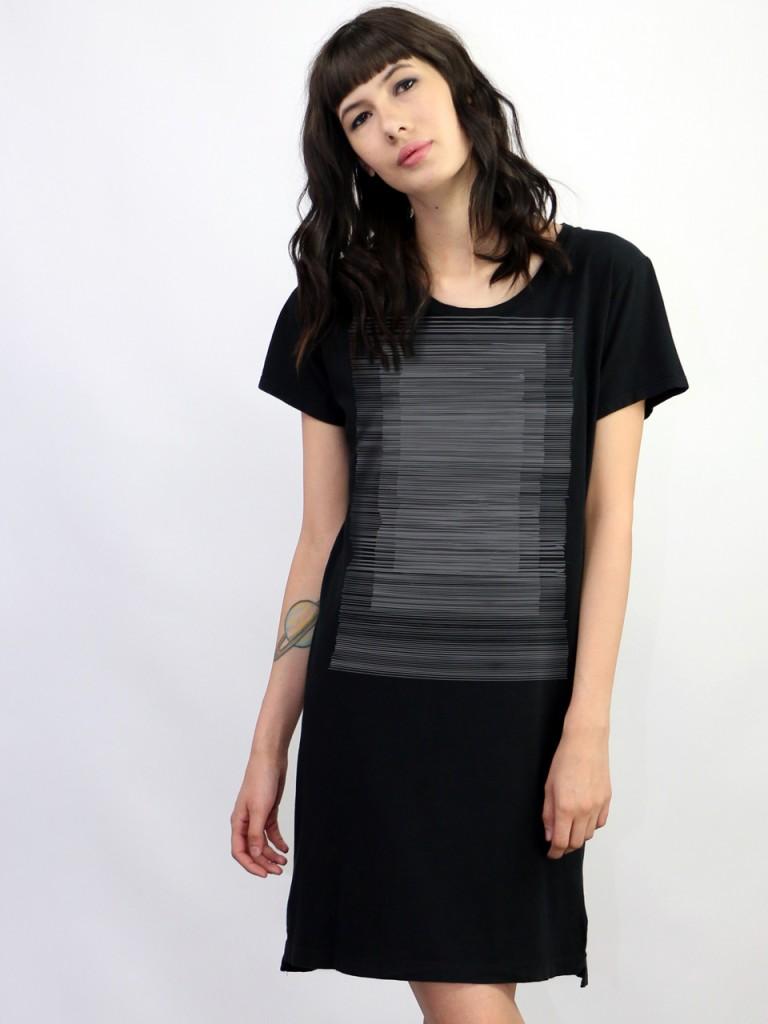 detail Supermaggie Lines Black Naomi Dress 2_LG