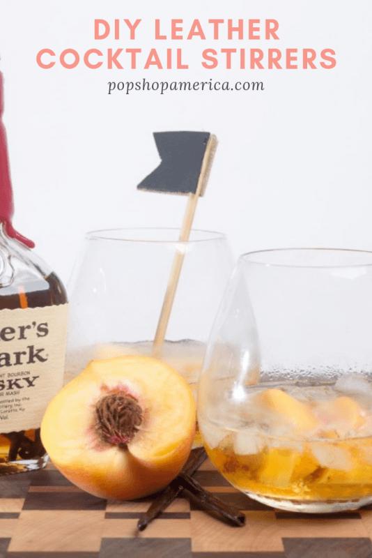 diy leather cocktail stirrers pop shop america