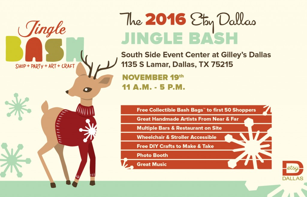 etsy dallas jingle bash gilley's dallas tx arts and crafts shows