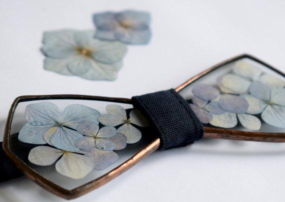 hydrangea glass bow tie handmade menswear by tereza varga