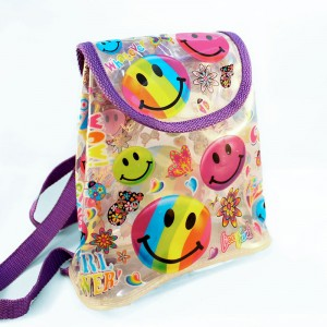 lisa frank smiling faces backpack