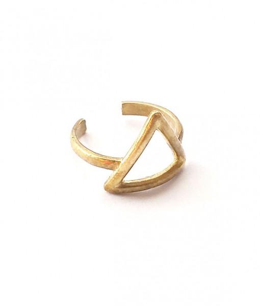 side-view-brass-triangle-ring-brass-jewelry