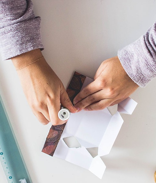 Glue the side of the Cracker Box DIY Gift Packages template