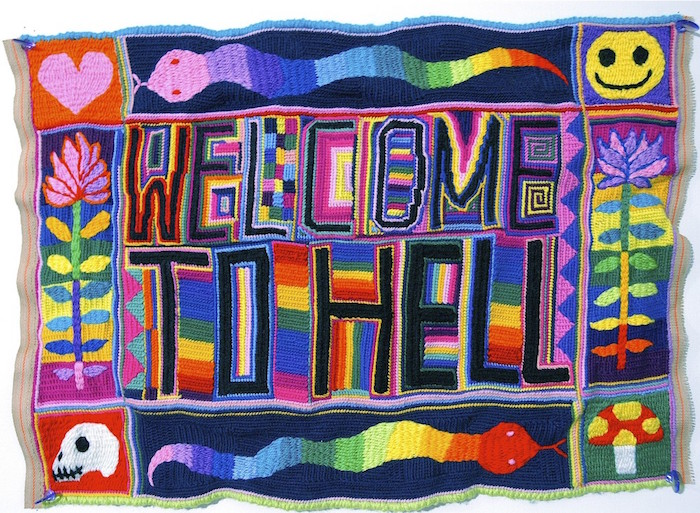 Paul Yore Welcome To Hell Tapestry Image From Website