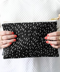 black specks leather clutch zana south africa