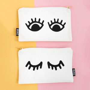 eyes canvas clutch front and back cute purse