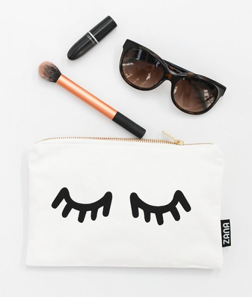 eyes canvas clutch handmade by zana south africa