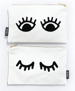 eyes canvas clutch pop shop america handmade