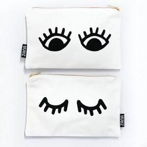 eyes canvas clutch pop shop america handmade
