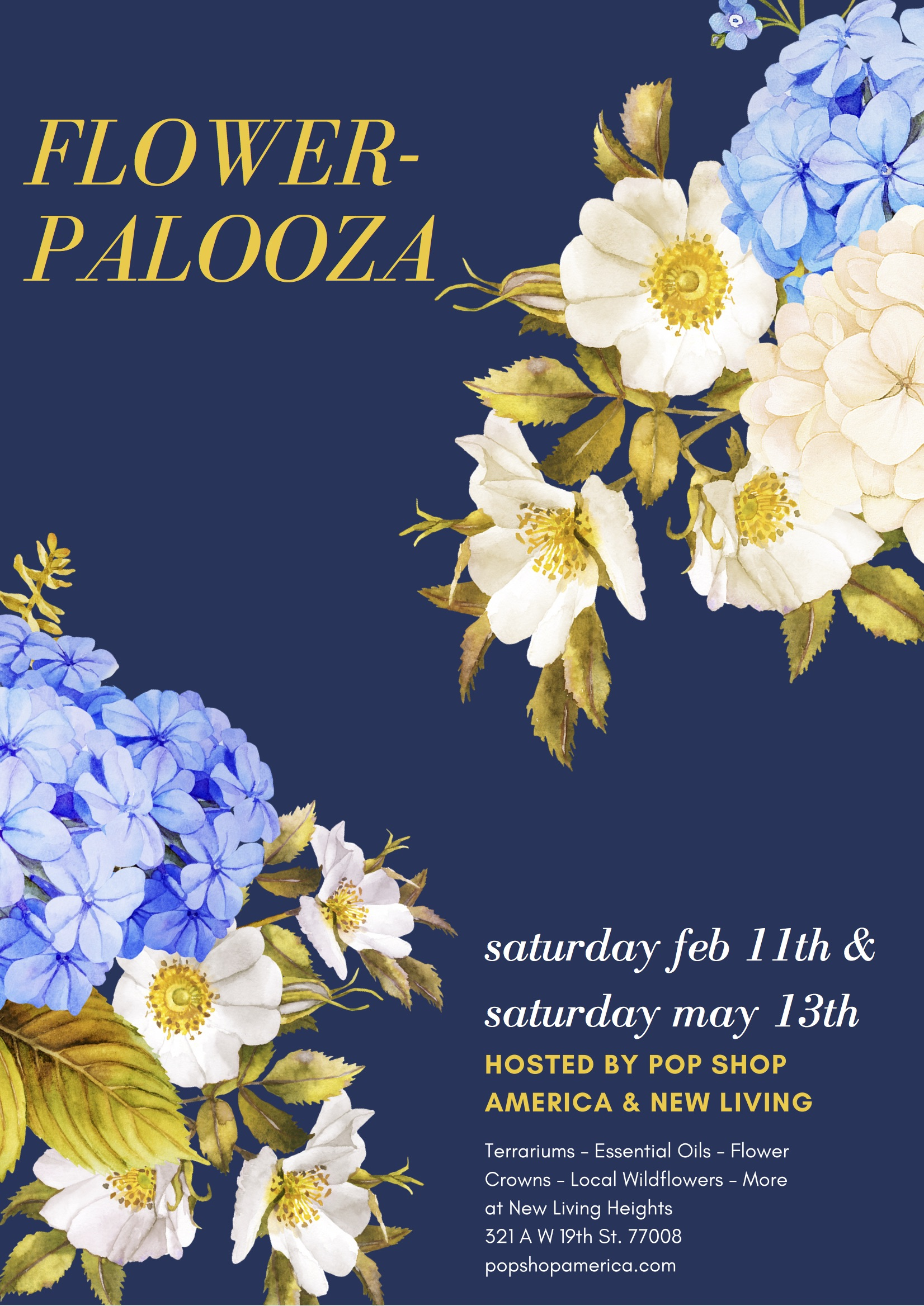 flowerpalooza houston valentine's event