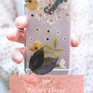 pressed flower phone case diy pop shop america