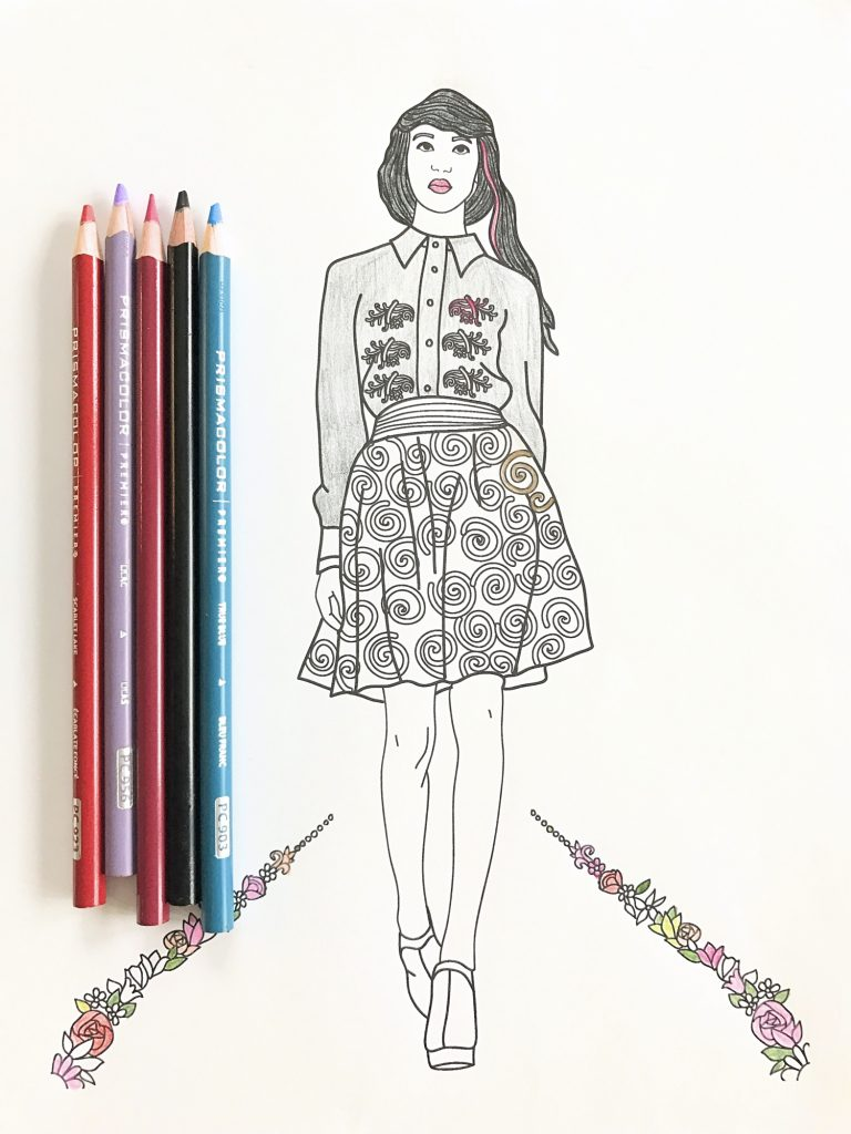 fashion show coloring pages for adults - Fashion Coloring Pages