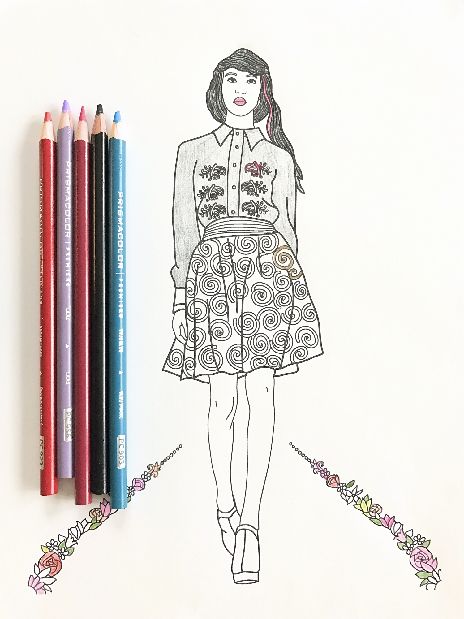 Free Fashion Coloring Pages For Girls Printable, Download Free ... | 2000x1500
