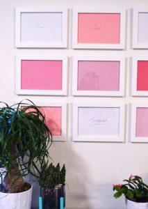 How to Make Inexpensive Art - Bright Pink Pop Art