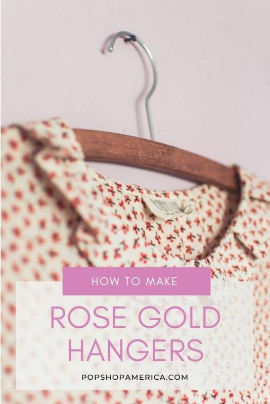 How to make simple DIY rose gold hangers tutorial featured image (1)