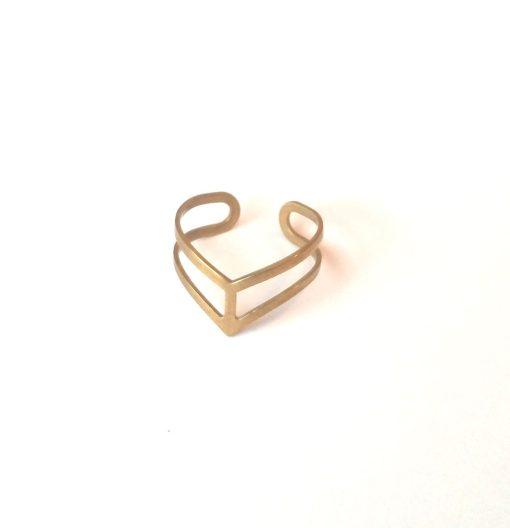 brass-chevron-ring-hero handmade jewelry